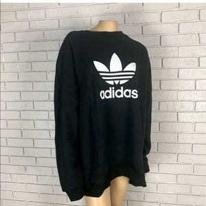 Adidas Originals oversized sweatshirt in black